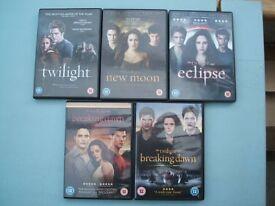 Twilight Saga Complete Set of 5 (Inc. Twilight/New Moon/Eclipse/Breaking Dawn 1 & 2) Vampire