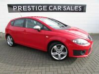 SEAT LEON 2.0 CR TDI FR PLUS 5d AUTO 168 BHP (red) 2011