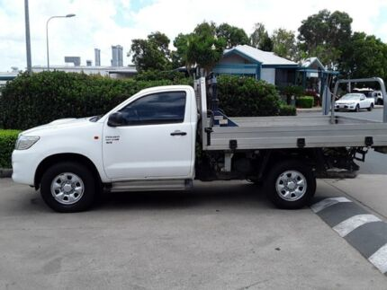 2011 Toyota Hilux KUN26R MY12 SR White 4 Speed Automatic Cab Chassis