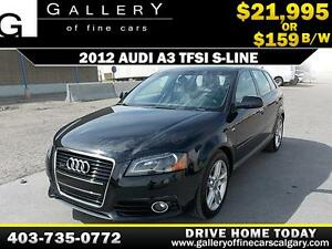 2012 Audi A3 TFSI Quattro S-Line $159 biweekly APPLY NOW