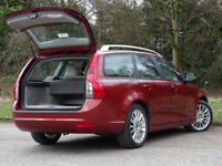 VOLVO V50 1.6 D DRIVE SE LUX 5d 109 BHP (red) 2010