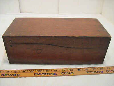 OLD WOOD-WOODEN DOVETAIL RECIPE CARD INDEX FILE BOX INDEX CARD BOX for sale  Cleveland