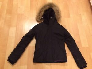 TNA black parka & GAP long winter coat, SMALL