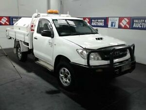 2010 Toyota Hilux KUN26R 09 Upgrade SR (4x4) White 5 Speed Manual Cab Chassis Cardiff Lake Macquarie Area Preview