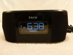 iHome iBT38 Dual Charge Alarm Clock Radio Dock For Apple UBS iPhone NO ADAPTER