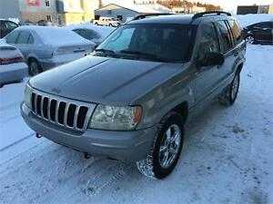 2002 Jeep Grand Cherokee Limited, 4X4, 4.7L, Toit, TPS INCL