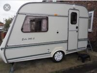 Super lightweight caravan with full awning. Can deliver