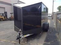 2016 RANCE ALL ALUMINUM ENCLOSED 7 X 16 BLACK OUT PACKAGE