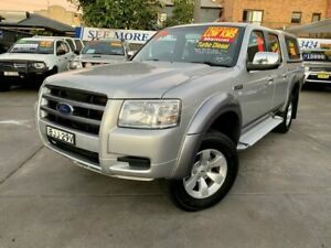 2008 Ford Ranger PJ XLT Crew Cab Silver 5 Speed Manual Utility Hamilton Newcastle Area Preview