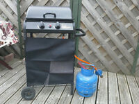 BBQ and calor gas bottles