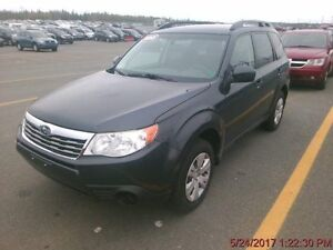 2010 Subaru Forester X Low kilometers ,one owner, nice shape all