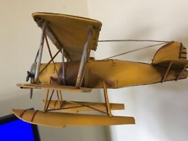 1950s Sea Plane in metal . colour yellow, collectable