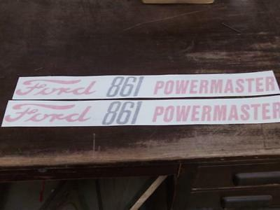 Ford 861 Powermaster Hood Decals. Both Sides. Vinyl. See Details