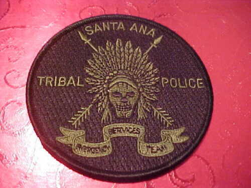 SANTA ANA NEW MEXICO TRIBAL POLICE PATCH SHOULDER SIZE UNUSED 4 X 4 BLACK GREEN