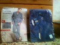 TWO pairs of brand NEW mens pyjamas in original packaging and unopened size medium BOTH for