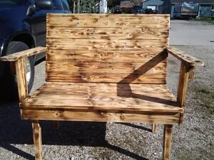 Garden Bench& Hand made crate coffee table