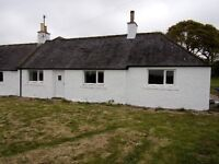 Two bedroom cottage in quiet rural location with oil central heating and double glazing.