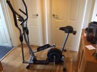 Pro-fitness 2 in 1 cycle/cross-trainer