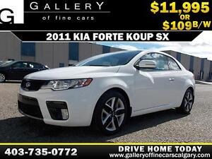 2011 Kia Forte Koup SX $109 bi-weekly APPLY NOW DRIVE NOW