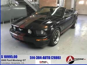 2006 Ford Mustang GT CONVERTIBLE/CUIIR/8 CYLINDRE/4.6 LITRE