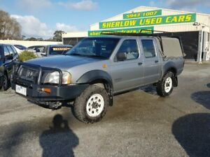 2003 Nissan Navara D22 Series 2 DX (4x4) Silver 5 Speed Manual 4x4 Dual Cab Pick-up Officer Cardinia Area Preview
