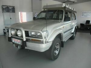 1997 Toyota Landcruiser 80 SERIES Silver 4 Speed Automatic Wagon Eight Mile Plains Brisbane South West Preview