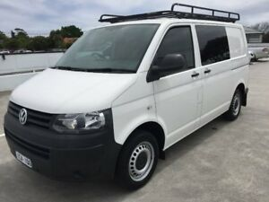 2014 Volkswagen Transporter T5 MY15 TDI250 SWB Runner SE White 5 Speed Manual Van