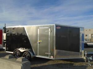 """19' ALL ALUMINUM DRIVE IN/OUT SPORT TRAILER W/ 6"""" EXTRA HEIGHT!! London Ontario image 2"""