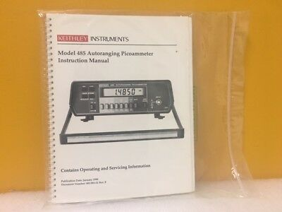 Keithley Model 485 Autoranging Picoammeter Instruction Manual