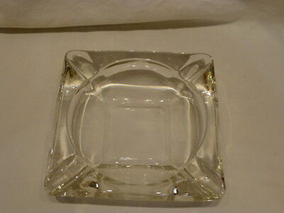 - Collectible Vintage Clear Glass Square Medium Ashtray 6