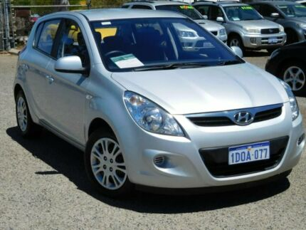 2011 Hyundai i20 PB MY12 Active Silver 5 Speed Manual Hatchback Wangara Wanneroo Area Preview