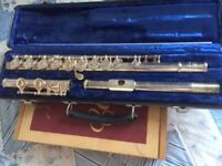 Much loved Buescher Flute in velvet lined box and beginners book if required