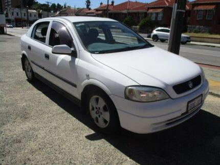 2002 Holden Astra White Automatic Hatchback