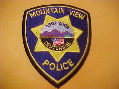 MOUNTAIN VIEW CALIFORNIA CENTENNIAL POLICE PATCH SHOULDER SIZE UNUSED