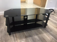 Black Glass TV Stand / Table For Quick Sale -- Cheap