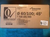 Worcester-Bosch 60/100mm 45 Degree - Flue Elbow Bend (Pair). Brand new in box