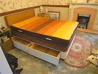 Double Bed with 4 Sturdy Drawers