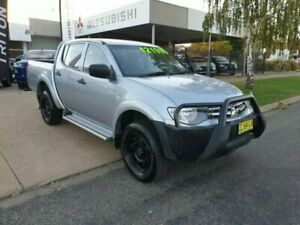 2014 Mitsubishi Triton GLX Silver 5 Speed Manual Dual Cab Young Young Area Preview