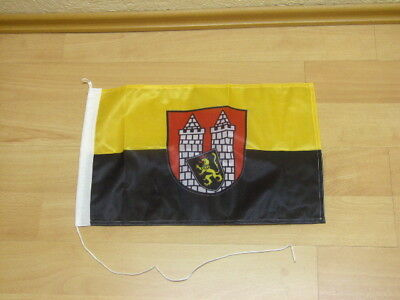 Hof Flagge (Fahnen Flagge Hof  Saale Bootsfahne Digitaldruck - 30 x 45 cm)
