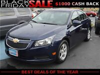 2011 Chevrolet Cruze LT, $39/Week OR $173/Month, SUNROOF!