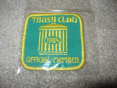 NEW TRASH CLAN OFFICIAL MEMBER PATCH 1984 PENNDOT KEEP PA BEAUTIFUL PICKUP BSA