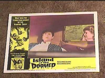 ISLAND OF THE DOOMED 1966 LOBBY CARD #7 HORROR