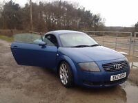 Audi TT Quattro 2001, 240 bhp good condition, very fast, private plate.