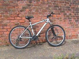 "Muddyfox 18"" lightweight Aluminium framed Mountain Bike, underseat suspension."