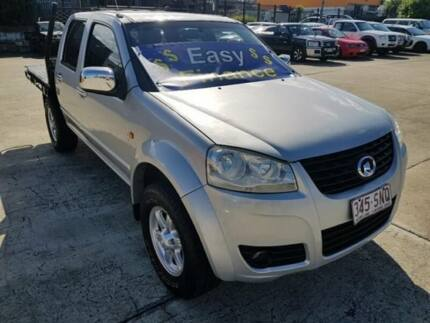 2011 Great Wall V200 K2 Utility Dual Cab 4dr Man 6sp 4x4 2.0DT Silver Manual Utility