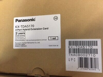 Panasonic Kx-tda50 Hybrid Ip Pbx - Kx-tda5170 Hlc4 4 Port Hybrid Station New