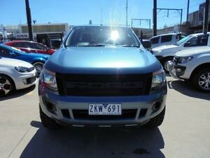 2012 Ford Ranger PX XL Hi-Rider Blue Auto Sports Mode 4D Utility Holroyd Parramatta Area Preview