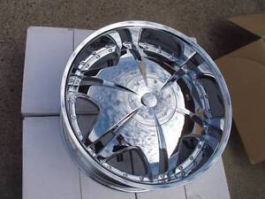 """4x 22"""" used chrome wheels fit most 6 stud car/suv/4wd $650 only Girraween Parramatta Area Preview"""