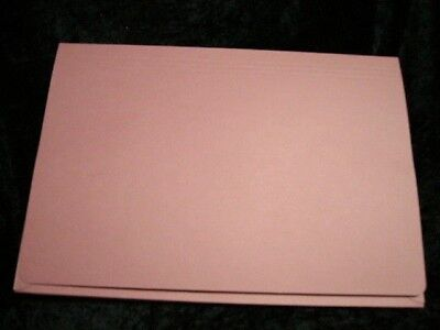 12 x Pink Document Wallets Full Flap Foolscap 315gsm PW3 Gusset 35mm Guild
