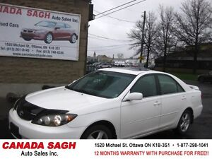 2005 Toyota Camry SE LTHR/ROOF 126km ! 12M.WRTY+SAFETY $5990